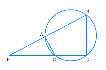 two chords AB and CD of a circle intersect each other at the point P
