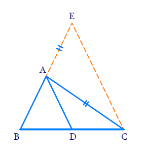 D is a point on side BC of ∆ABC