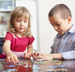 Children doing puzzles is an important aspect of education and learning