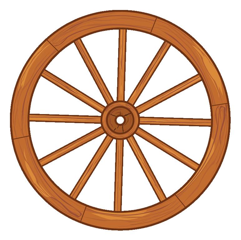 Wheel of a cart