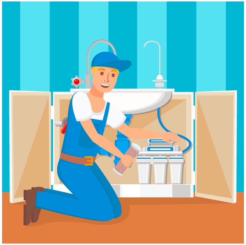 A man repairing pipe in his bathroom.