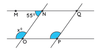 Co-interior angles example