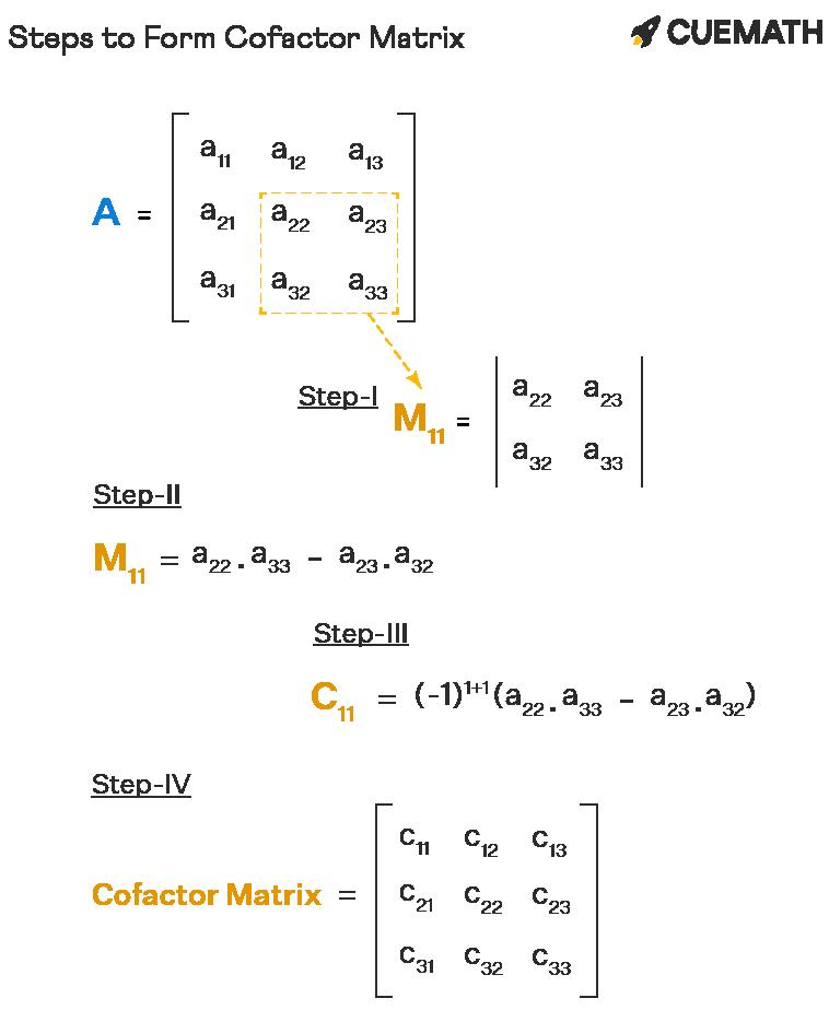 Steps to Form Cofactor Matrix