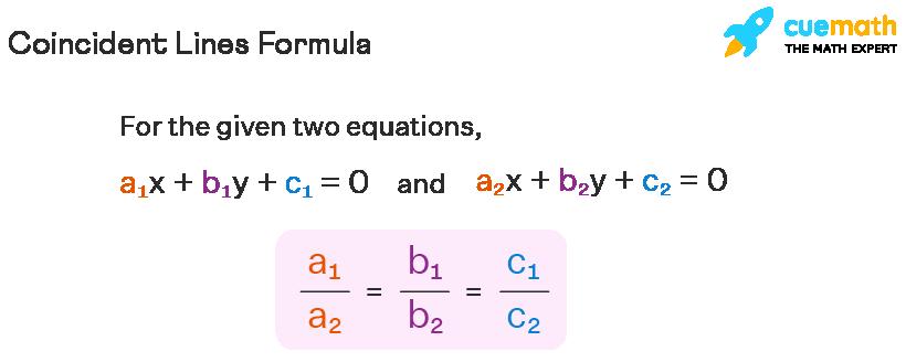 formula of coincident lines