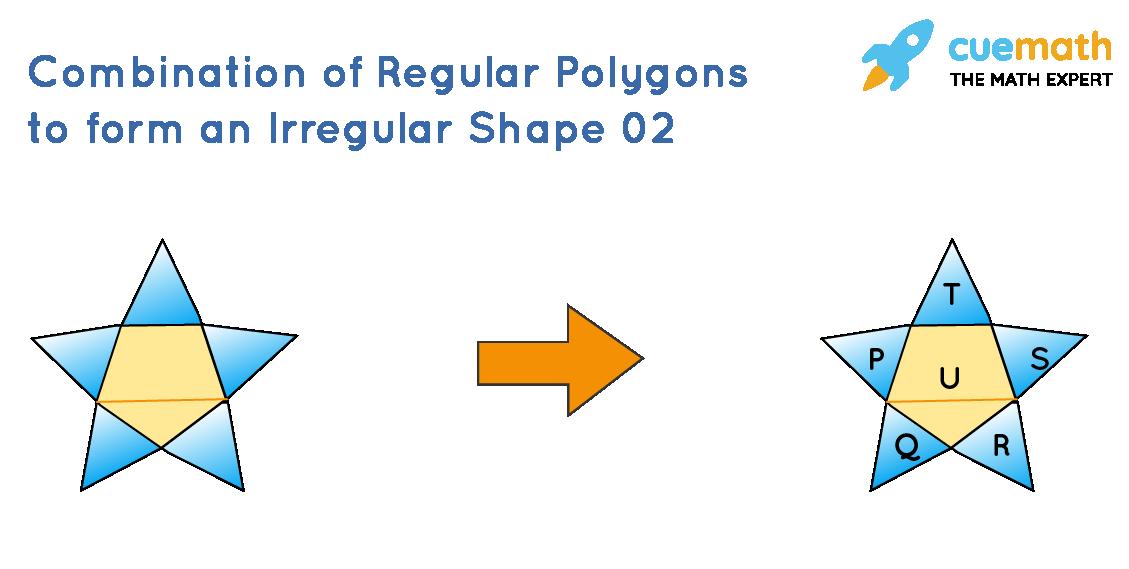 Irregular shapes as a combination of regular polygons