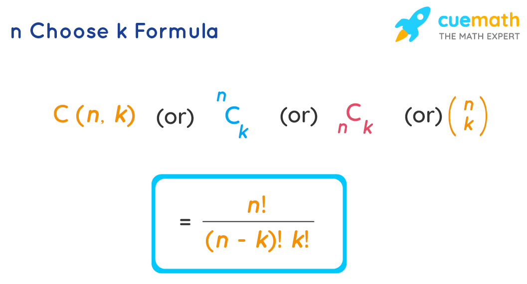 n choose k (or) combinations formula