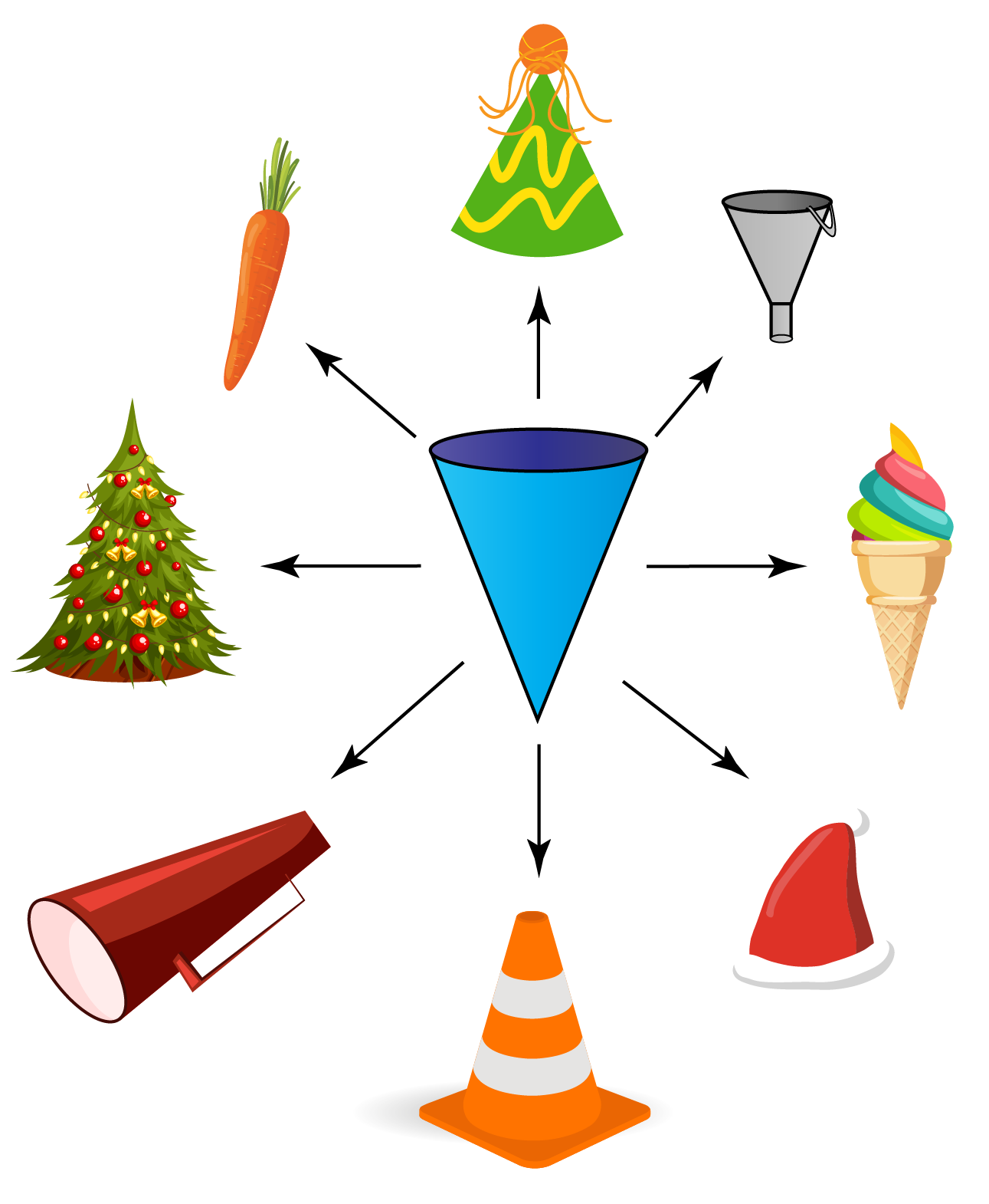 examples of cone-shaped objects