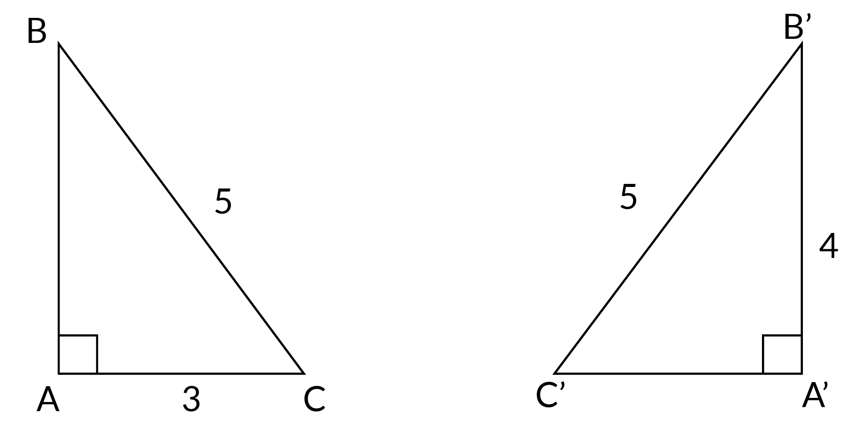 two triangles are congruent.