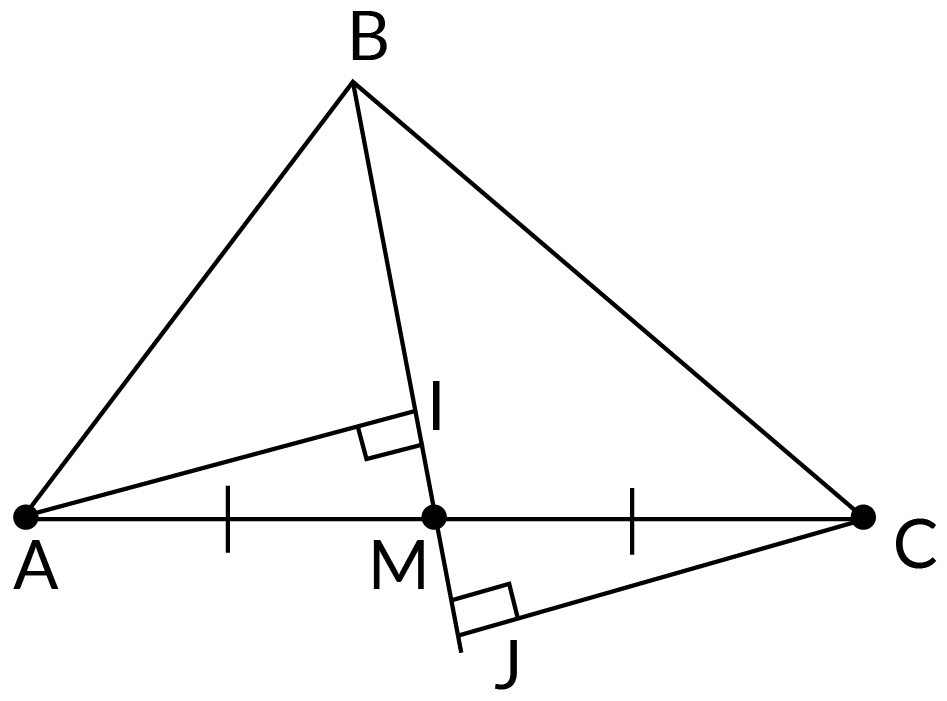 triangles AIM and CJM are congruent.