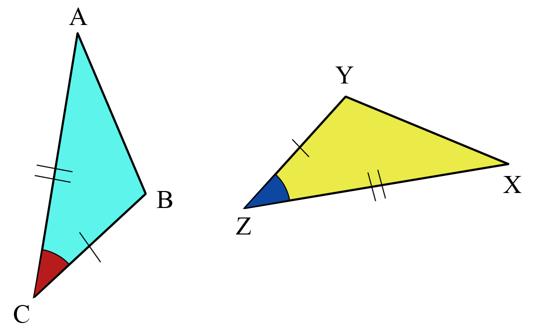 Explaining the congruence of triangles using SAS Criterion of Congruence