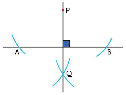 PQ perpendicular to AB