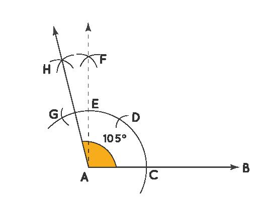 Construction of 105 Degree Angle
