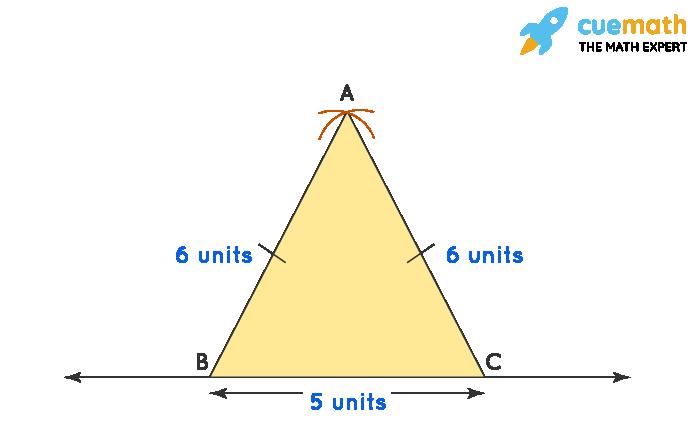 Construction of isosceles triangle