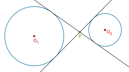 Transverse common tangents type 1