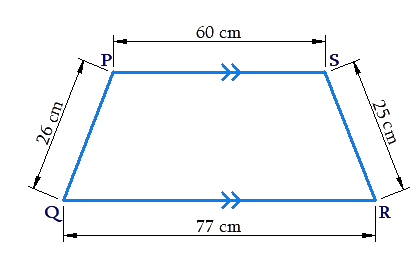 Example of area of trapezium