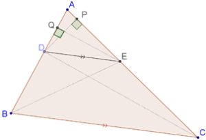 Intersecting triangle proportionally