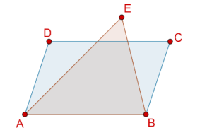 Parallelogram and triangle with same base
