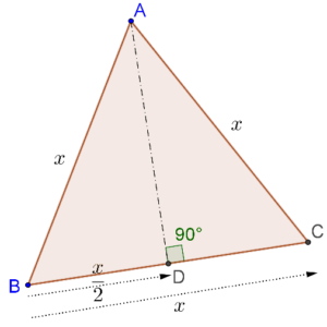 Equal triangles