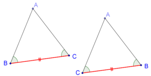 Example flipped triangle
