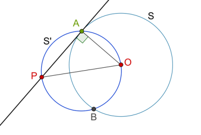 Semi circle with right-angle