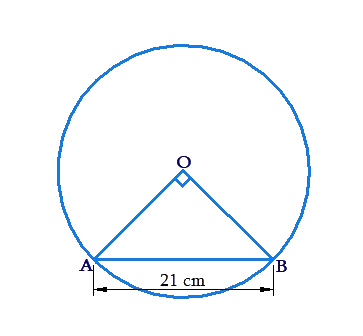 Circle, triangle and chord