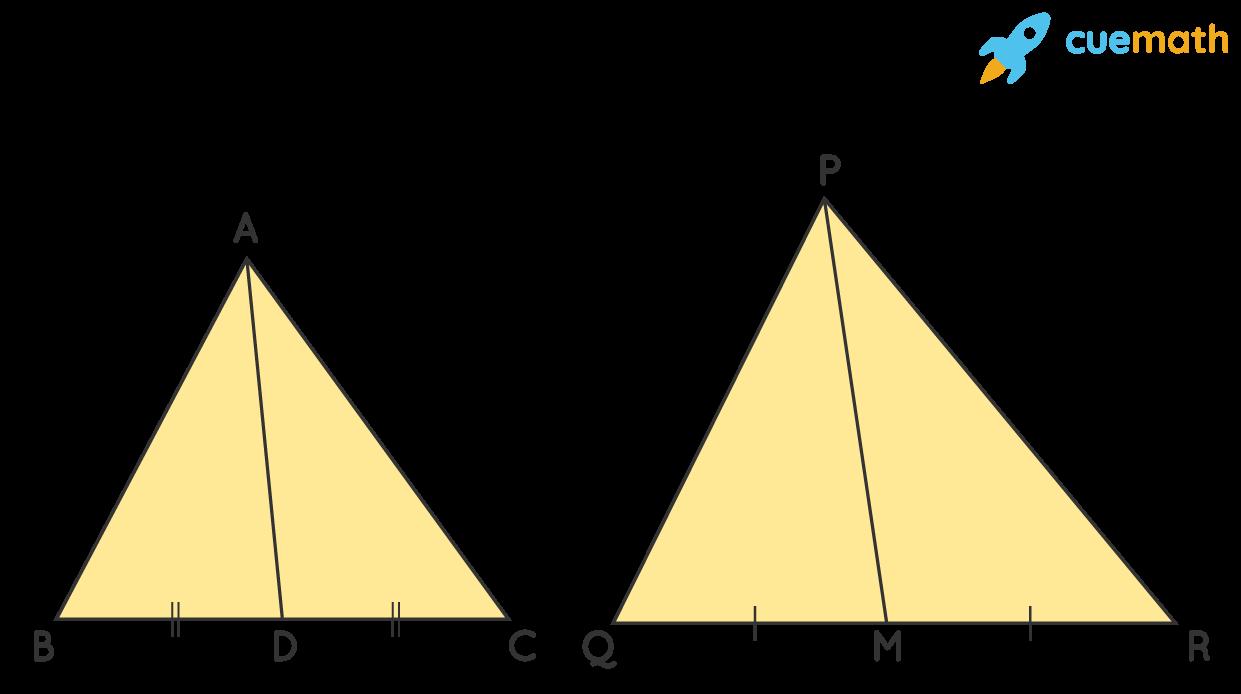Similar triangles ΔABC andΔPQR