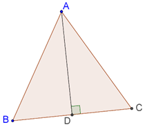 Equilateral triangle and altitude