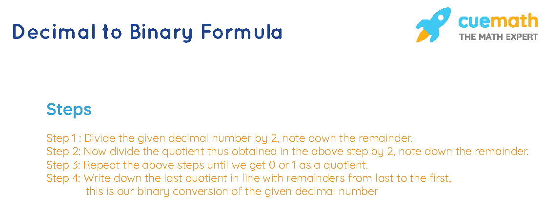 decimal to binary formula