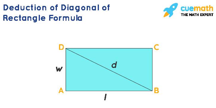 Deduction of diagonal of rectangle formula