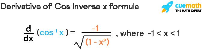 derivative of cos inverse formula