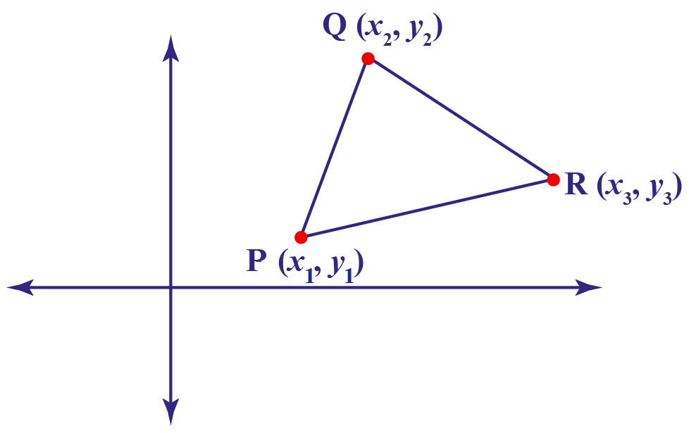 collinear points in triangle PQR