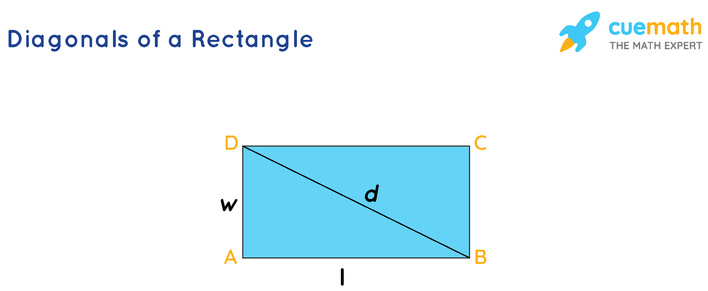 Diagonal of a rectangle proof