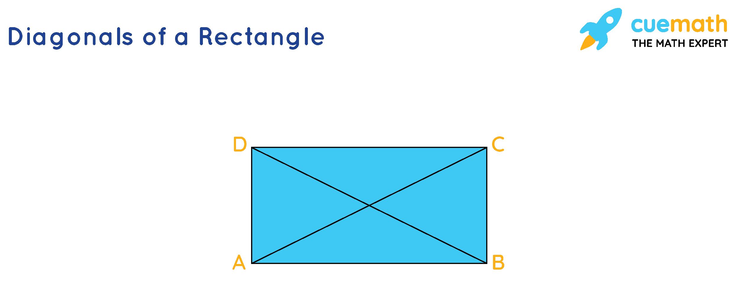 Diagonals of a rectangle