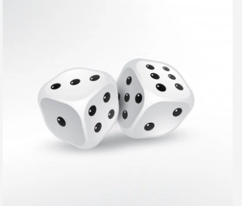 Probability of throwing a dice
