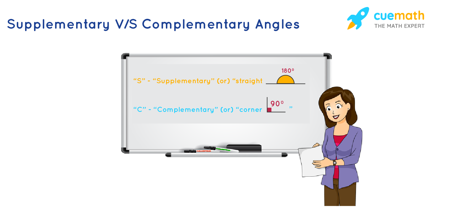 tips or trick to remember difference between supplementary and complementary angles