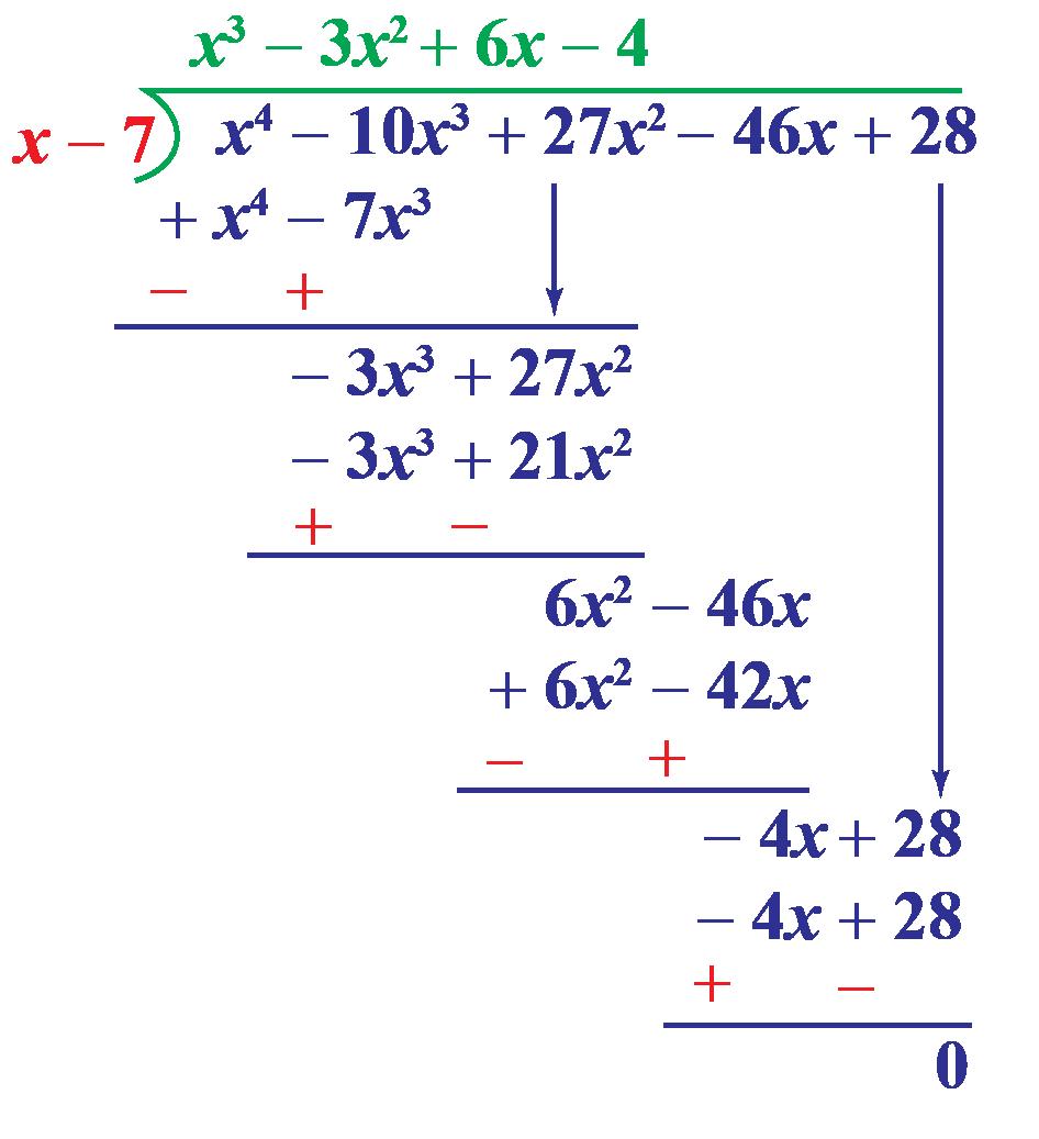 dividing polynomials example