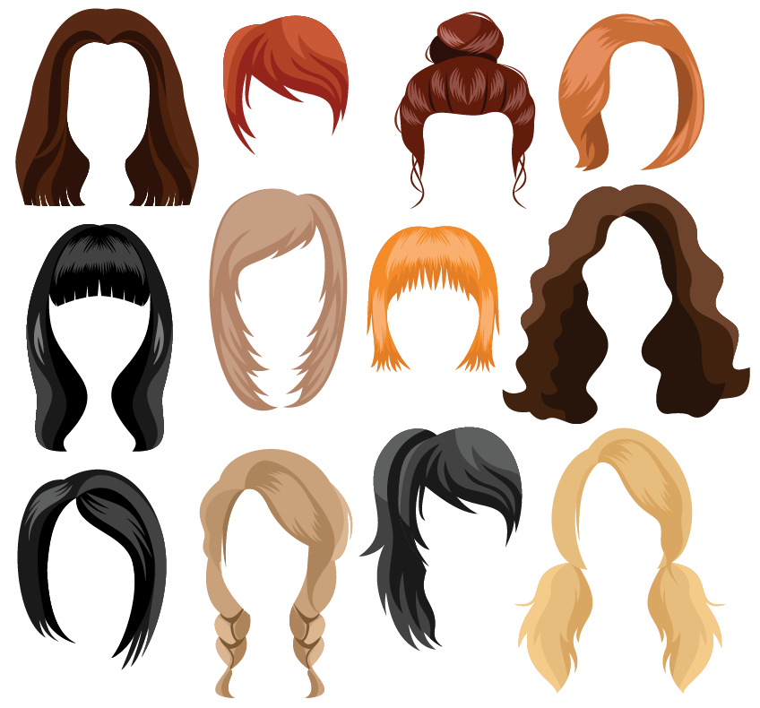 catergorical data: hair colors