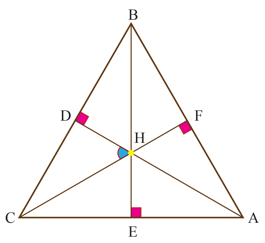 orthocenter H in triangle ABC