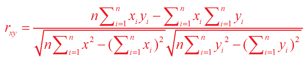Linear Correlation Coefficient Formula