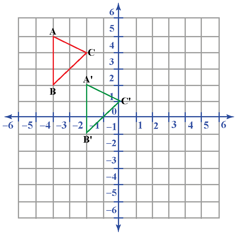 translation math example of a triangle