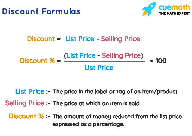 Discount Formulas