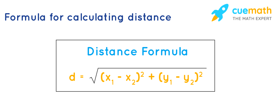 Calculating distance between two points using distance formula