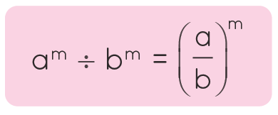 Dividing exponents with same power