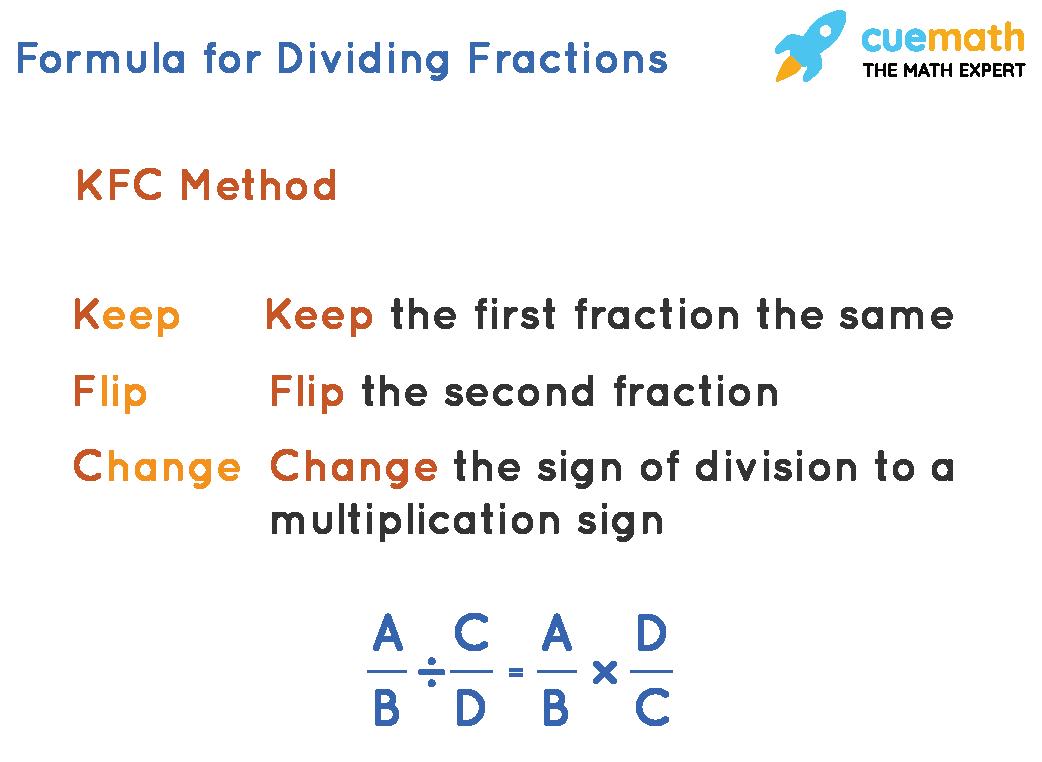 Formula for dividing fractions