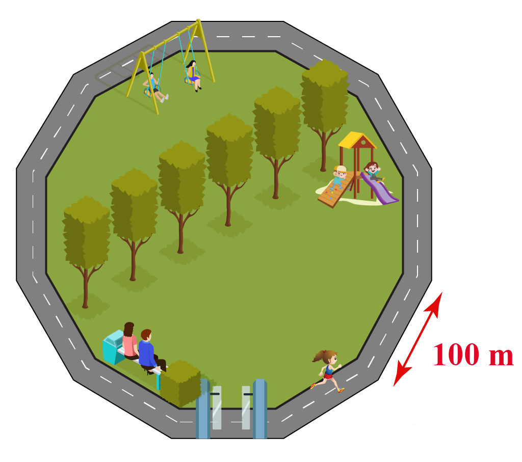 park in the shape of dodecagon