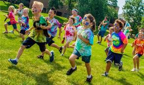 Kids running on the ground
