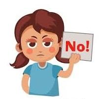 Child saying NO