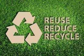 The three R, Reuse, reduce, recycle