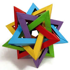 Paper origami of 3D star