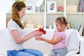 Parent rewarding her kid